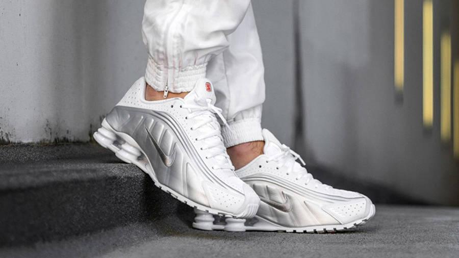 Nike Shox R4 White Metallic Silver