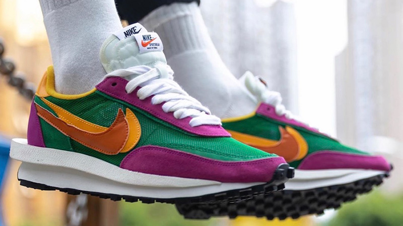 fábrica gran descuento de 2019 más baratas sacai x Nike LDWaffle Green Pink - Where To Buy - BV0073-301 | The ...