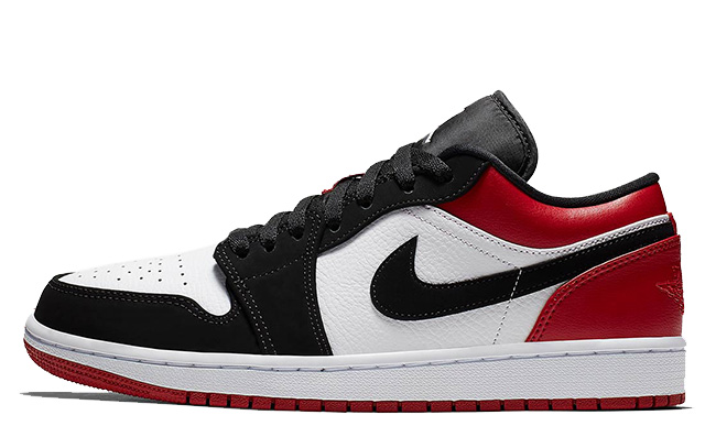 Jordan 1 Low Black Red 553558-116