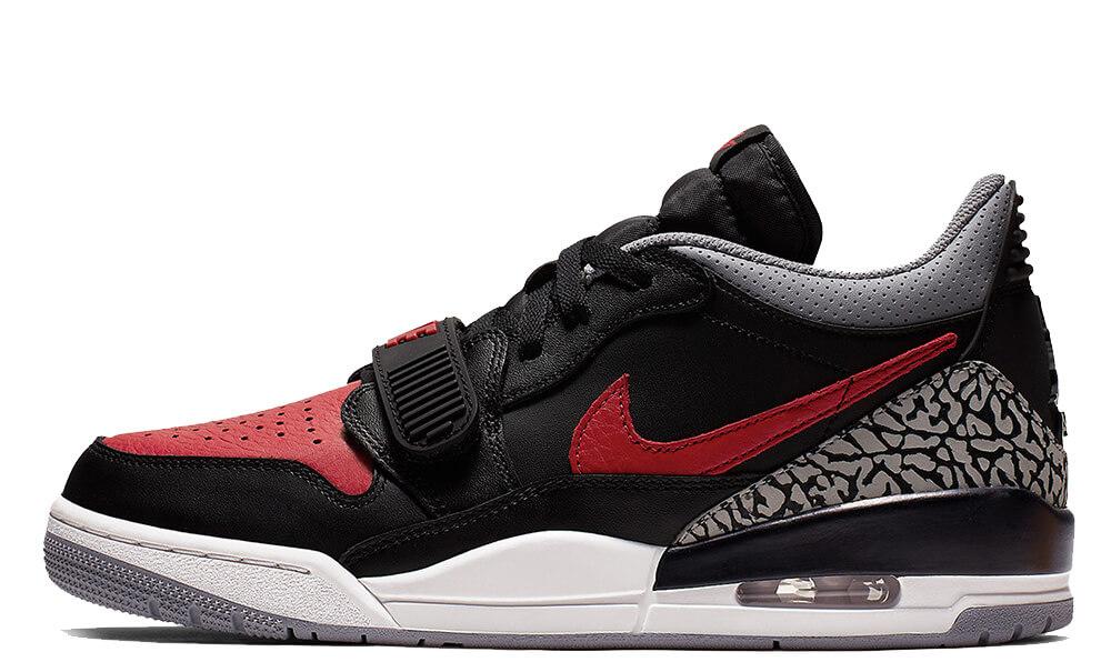 Jordan Legacy 312 Low Black Red CD7069-006 front