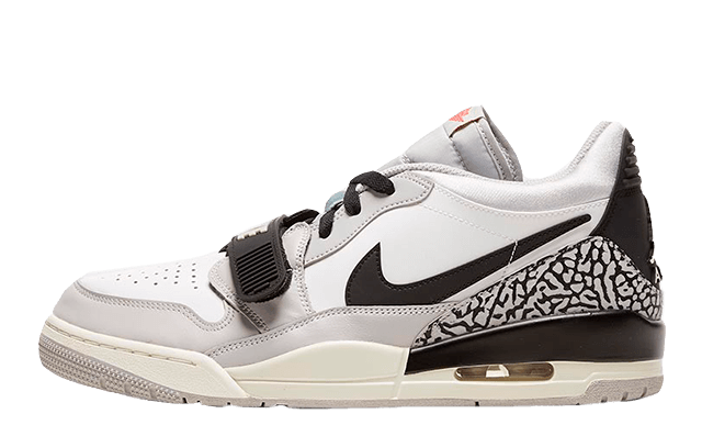 Jordan Legacy 312 Low White Fire Red front