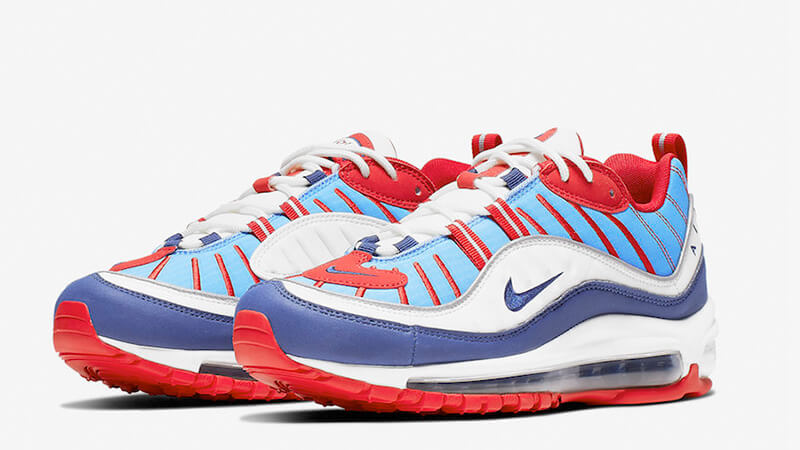 red white and blue nike air max