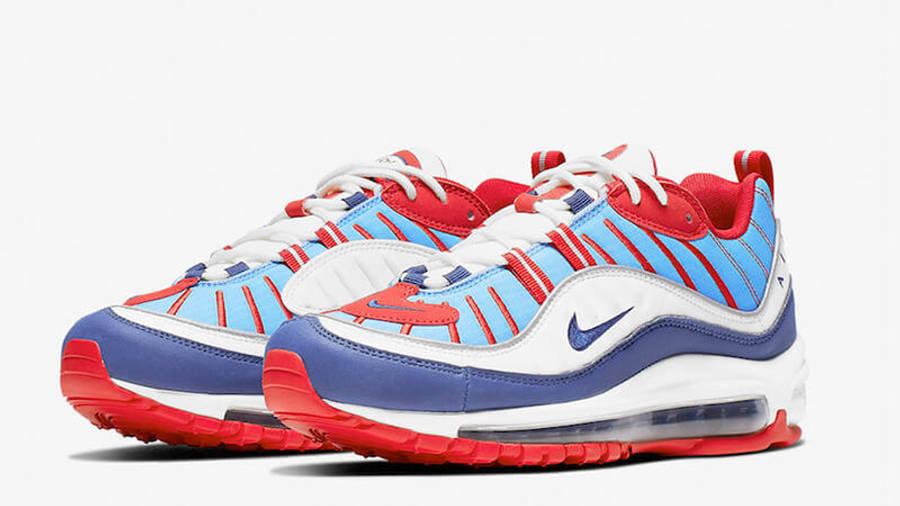 Nike Air Max 98 Blue Red Womens   Where