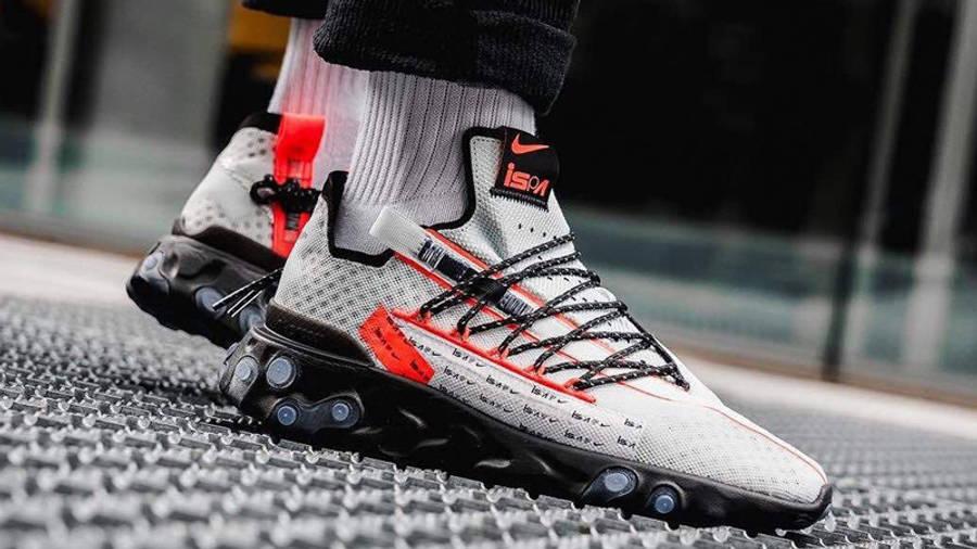 Nike React WR ISPA Grey Sapphire On Foot Side