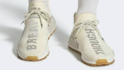 Pharrell x adidas Hu NMD Gum Pack Cream On Foot