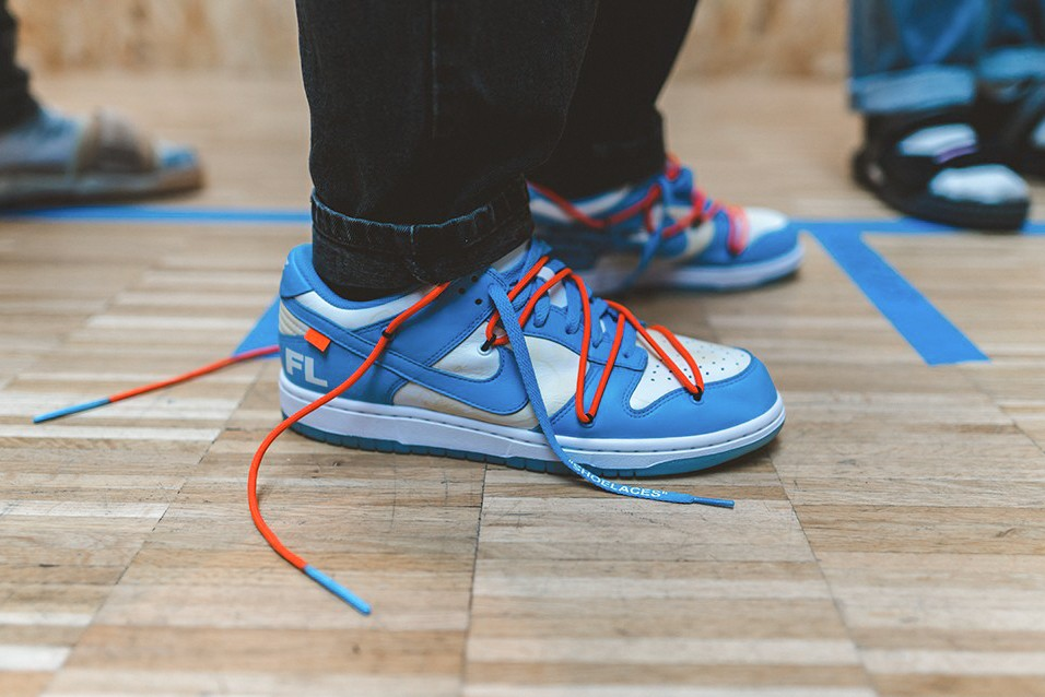 An On Foot Look At The Off White X Nike Sb Dunk Low The Sole
