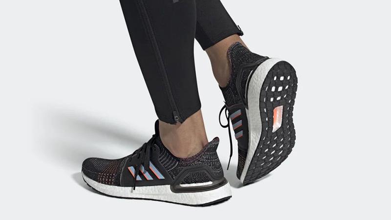 adidas Ultra Boost 19 Black Multi G54011 on foot