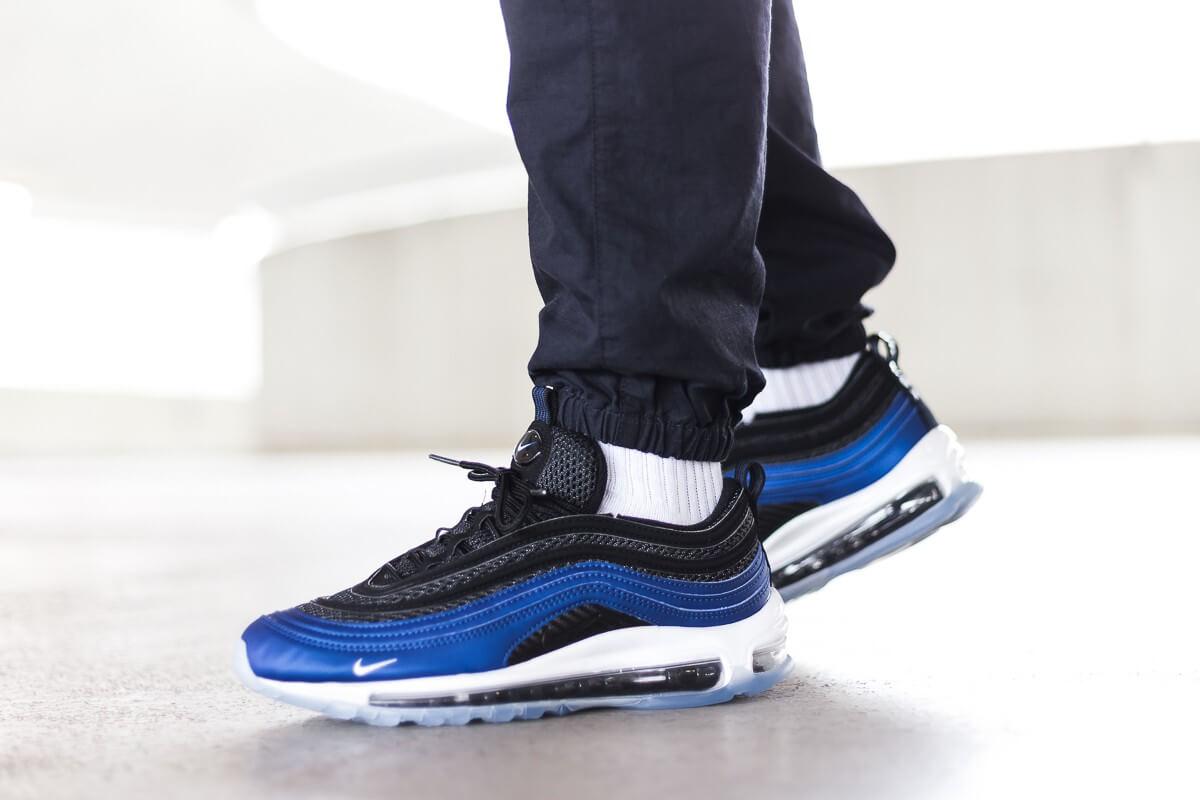nike air max 97 foam blue/black men's shoes