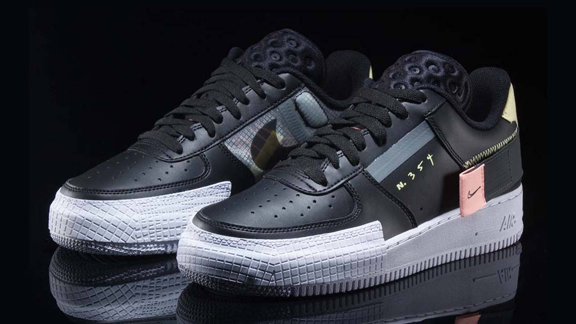 Nike Air Force 1 Low Type Black Raffles