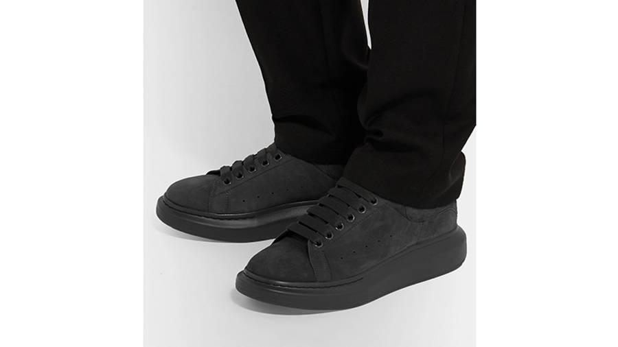 Alexander McQueen Leather Suede Black