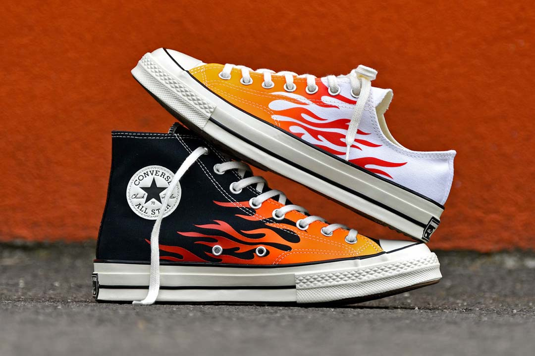 Bring The Heat This Season With These Fire Converse Chuck 70s