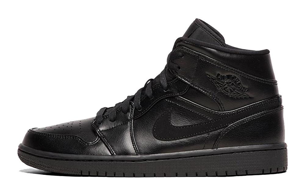 Jordan 1 Mid Black Leather