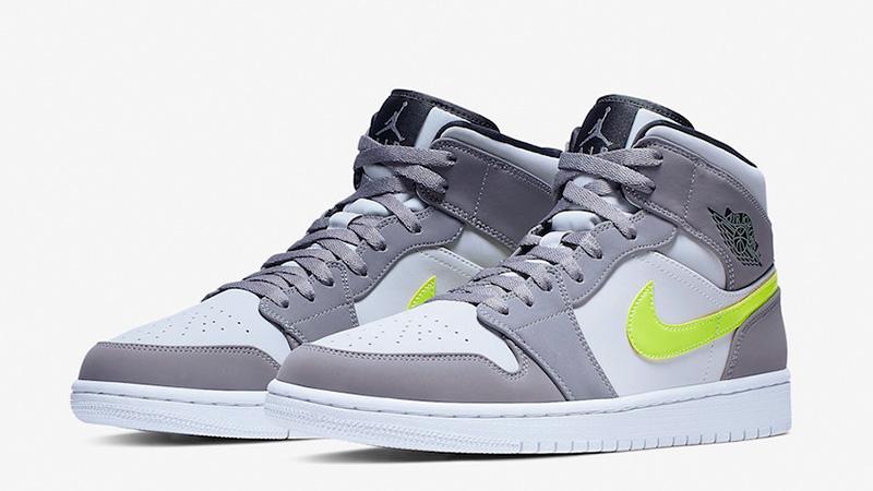 Jordan 1 Mid Grey Volt | Where To Buy