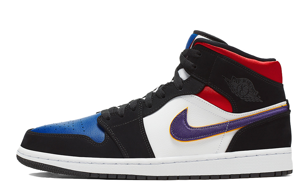 best prices sold worldwide classic fit Jordan 1 Mid Purple White Red - Where To Buy - 852542-005 | The ...