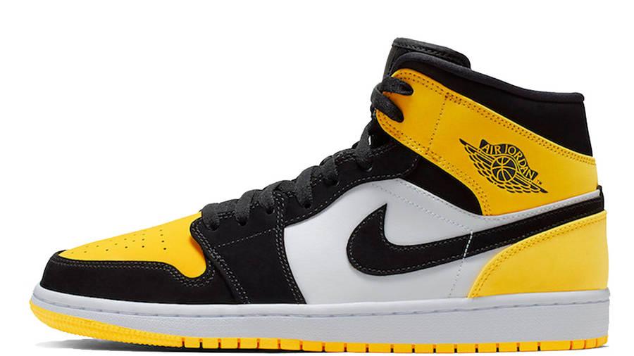 Jordan 1 Mid Yellow Toe Footasylum