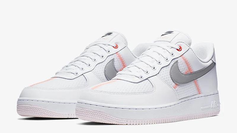 Nike Air Force 1 07 LV8 White Crimson