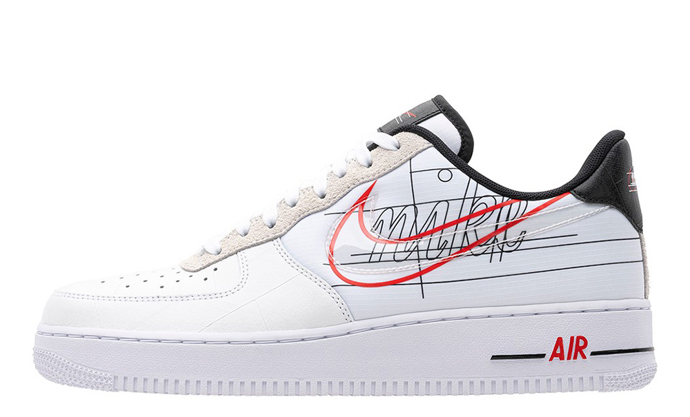Nike Air Force 1 Script Swoosh Pack White