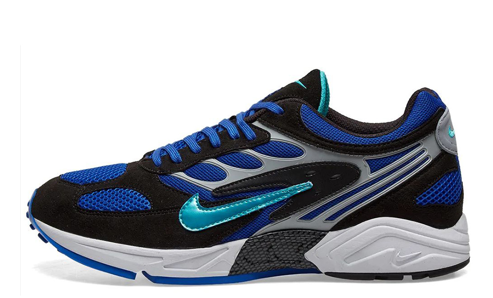 Nike Air Ghost Racer Racer Blue AT5410-001 on foot front