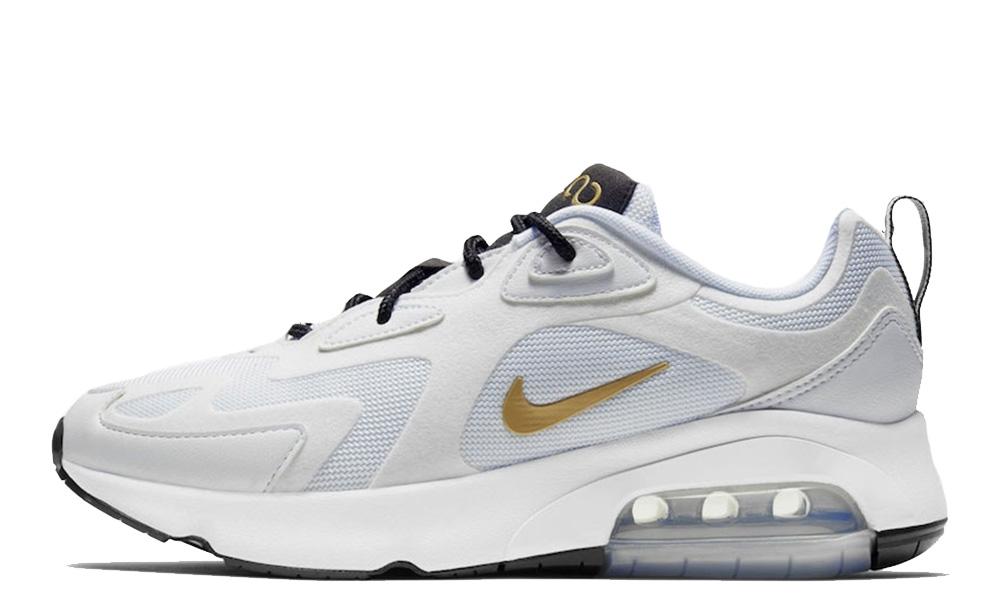 Nike Air Max 200 White Black front