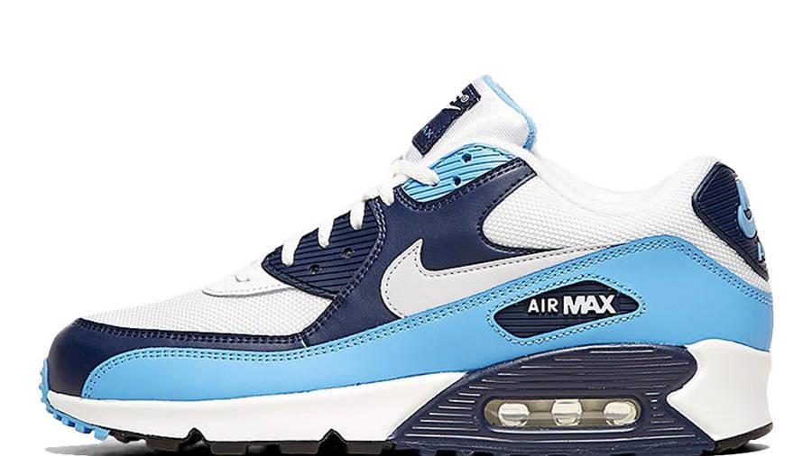 Nike Air Max 90 Essential White Blue | Where To Buy | AJ1285-105 ...