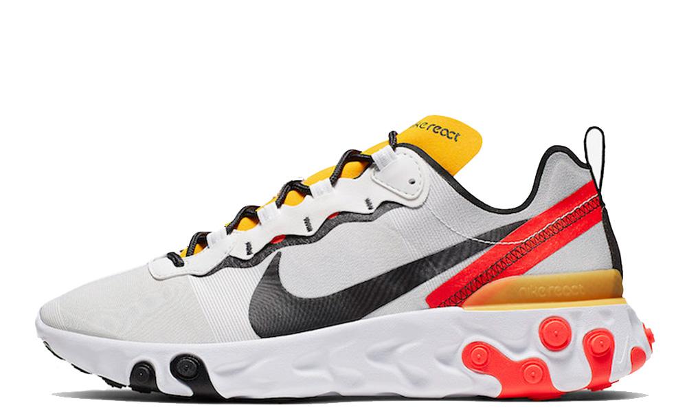 Nike React Element 55 White Yellow Red BQ6166-102