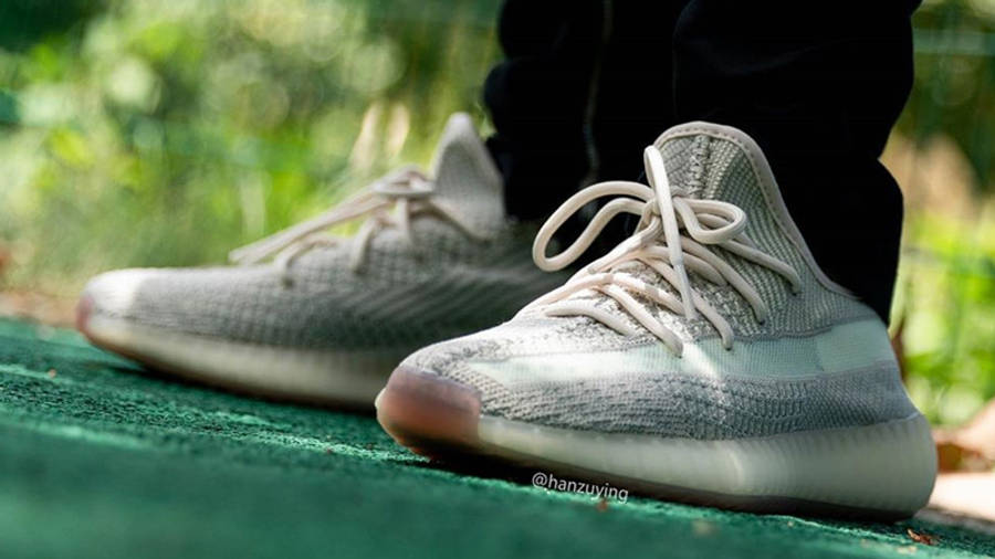 Yeezy Boost 350 V2 Cloud White On Foot