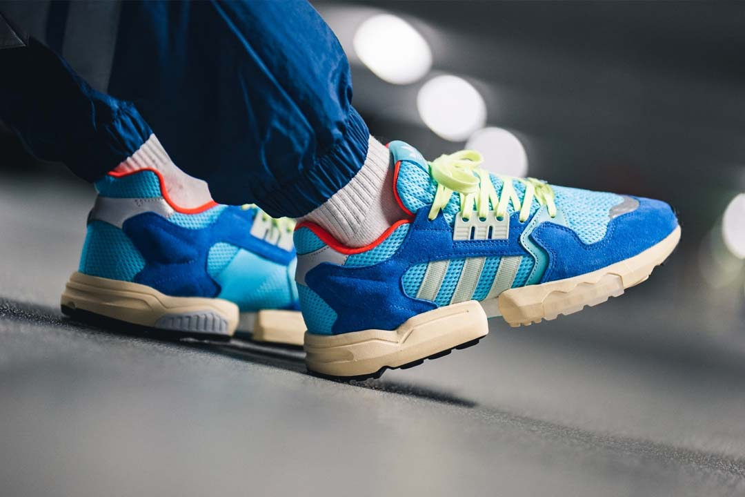 An On Foot Look At The adidas ZX Torsion 'Bright Cyan'