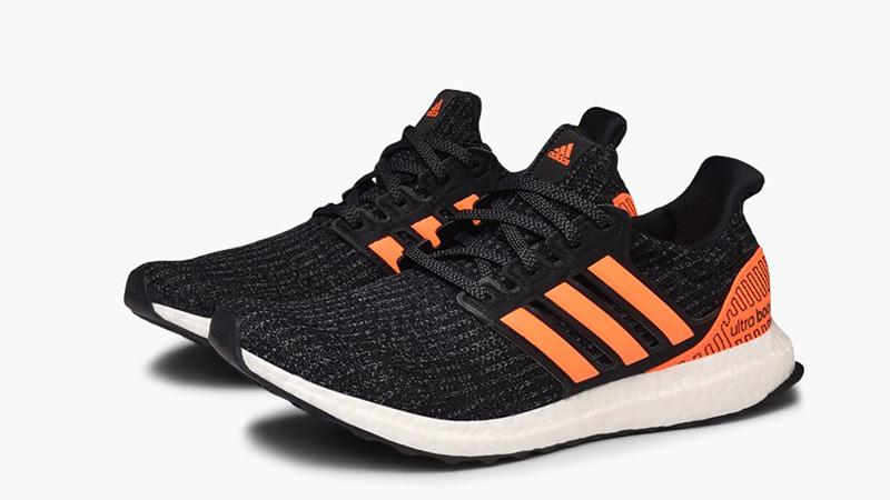 adidas Ultra Boost Black Solar Orange EH1423 front