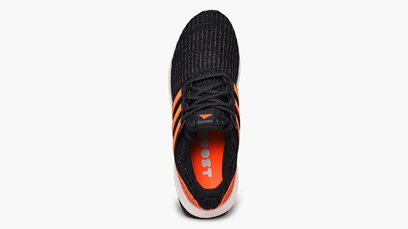 adidas Ultra Boost Black Solar Orange EH1423 middle