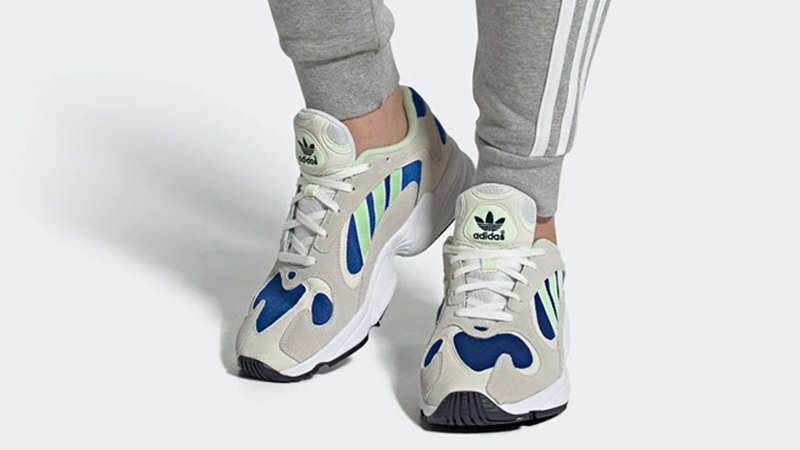 adidas Yung 1 Grey Navy EE5318 on foot