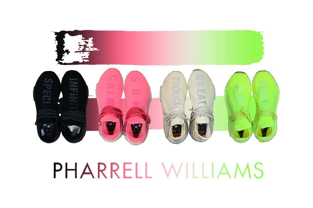 The Pharrell x adidas NMD Hu 'Gum Pack