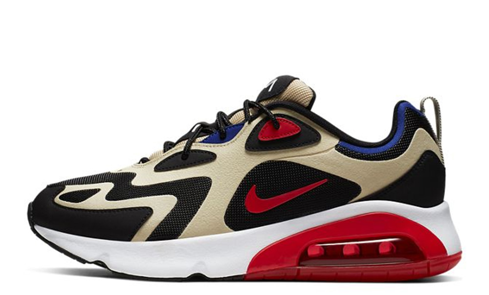 Nike Air Max 200 Gold Red AQ2568-700 on foot