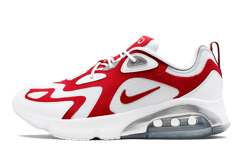 Nike Air Max 200 White Red AQ2568-100 front