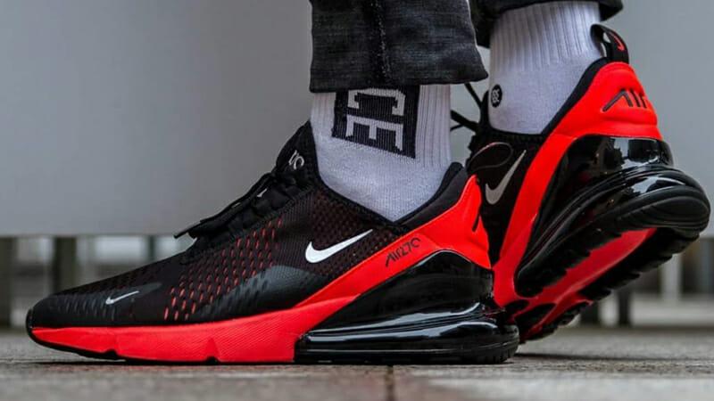 Nike Air Max 270 Black Crimson Where