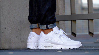 Nike Air Max 90 Leather White   Where To Buy   302519-113   The ...