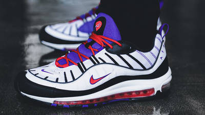 Nike Air Max 98 Psychic Purple On Foot