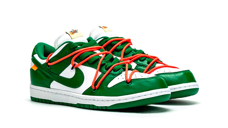 Off White x Nike Dunk Low Pine Green