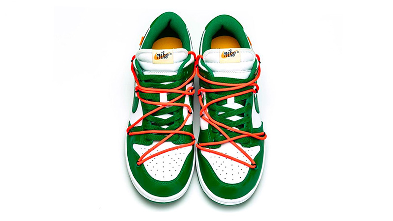 Off-White x Nike Dunk Low Pine Green CT0856-100 middle