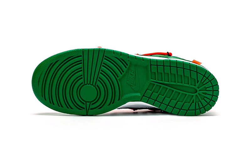 Off-White x Nike Dunk Low Pine Green CT0856-100 outsole