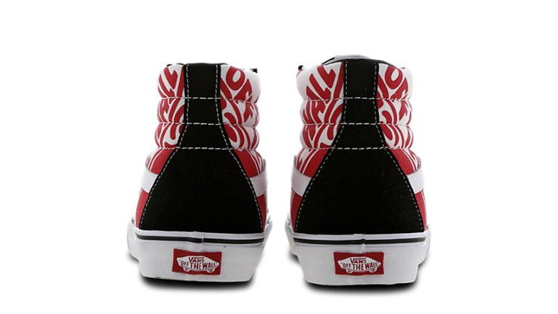 Vans Sk8 Hi Black Red VN0ABV8V3W1 back