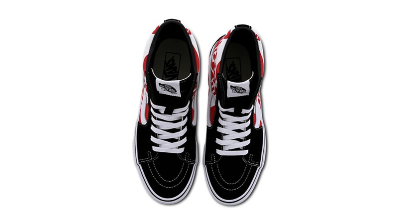 Vans Sk8 Hi Black Red VN0ABV8V3W1 middle
