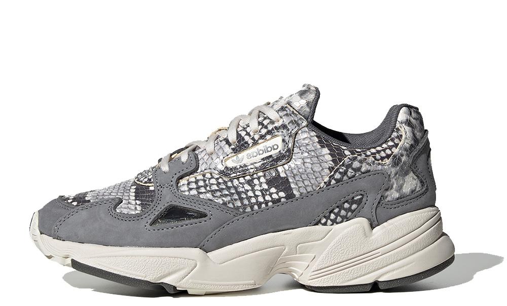 adidas Falcon Snakeskin Black Womens EH0192