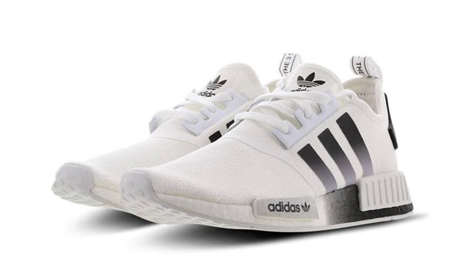 black and white nmds