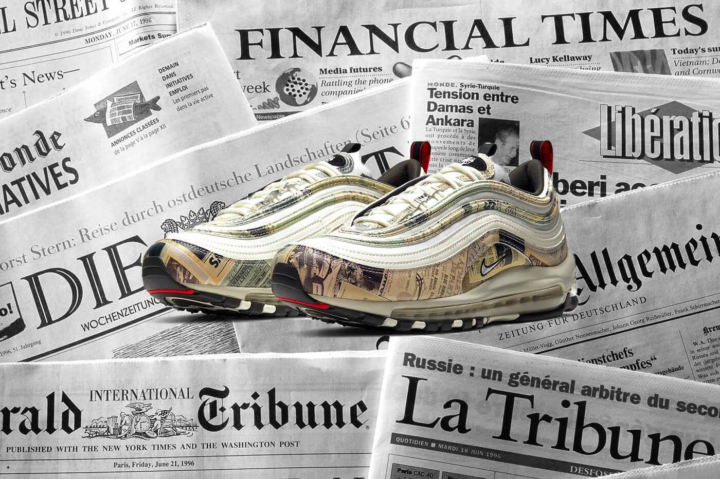 The Nike Air Max 97 'Newspaper' Is Hot Off The Press
