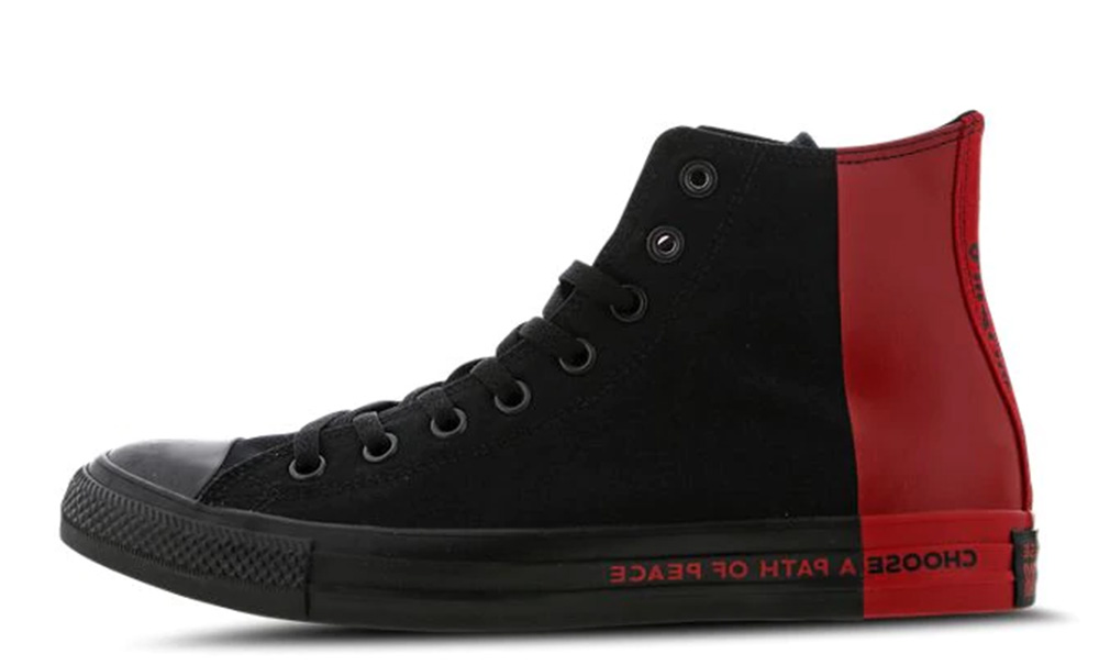 Converse Chuck Taylor All Star Seek Peace High Black Red 166534C