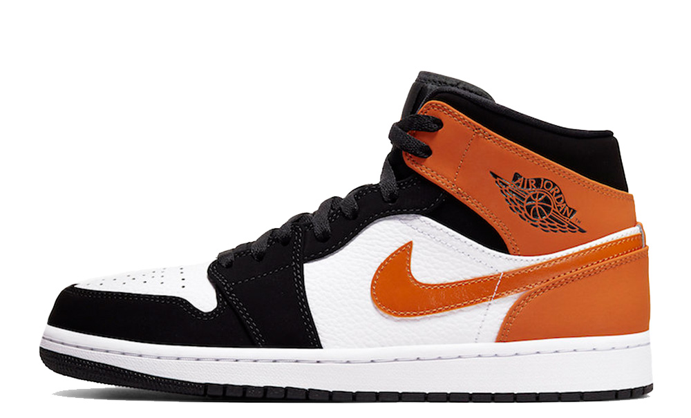 nike air jordan 1 mid orange femme