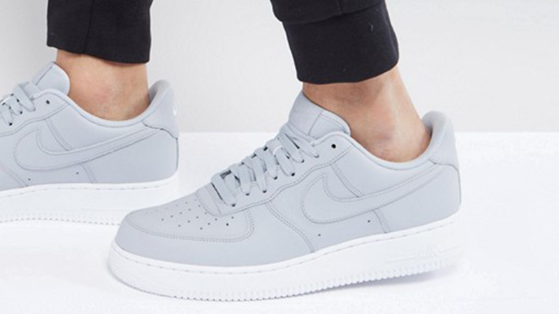 light grey air force ones
