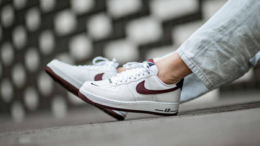 Nike Air Force 1 07 LV8 White Maroon | Where To Buy | CJ8731-100 ...