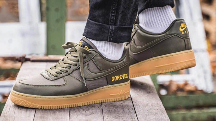 Nike Air Force 1 Low WTR Gore-Tex Green On Foot