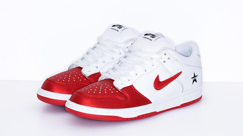Supreme X Nike Sb Dunk Low Red White